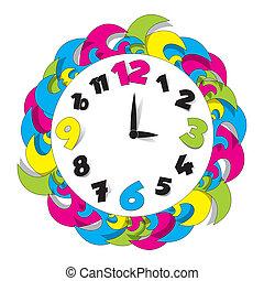 Un reloj de color