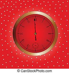 Un reloj de Navidad