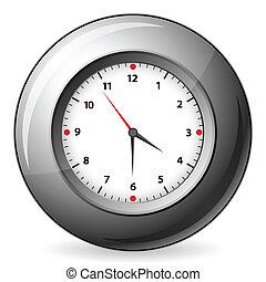 Un reloj de pared gris
