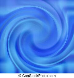 Un remolino azul