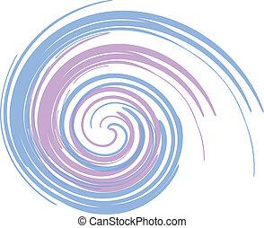 Un remolino azul y púrpura