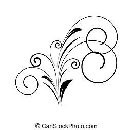 Un remolino de decoración floral