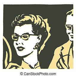 Un retrato clásico de una mujer