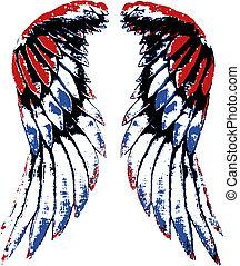Un retrato de ala de águila