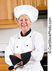 Un retrato de chef profesional