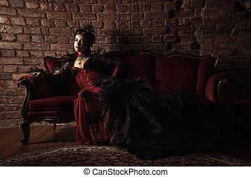 Un retrato de chica de estilo gótico