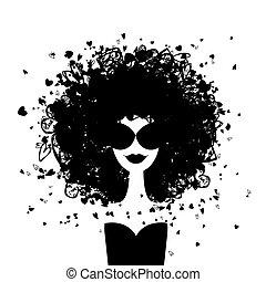 Un retrato de mujer de moda para tu diseño