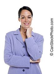 Un retrato de mujer de negocios