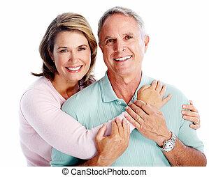 Un retrato de pareja mayor.