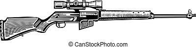 Un rifle de caza