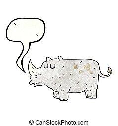 Un rinoceronte de dibujos animados texturados
