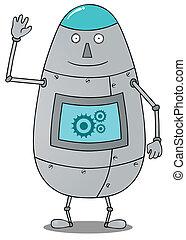 Un robot feliz y gordo