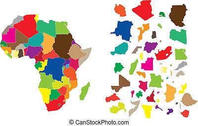 Un rompecabezas del continente africano