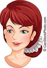 Un rostro de una mujer hermosa