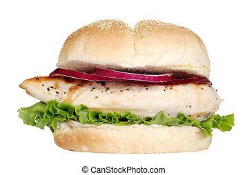 Un sándwich de pollo asado