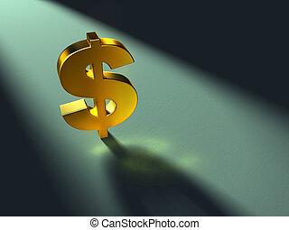 Un símbolo de dólares