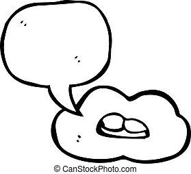 Un símbolo de la boca parlante