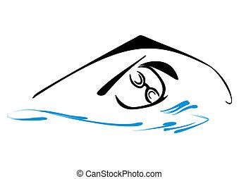 Un símbolo de natación