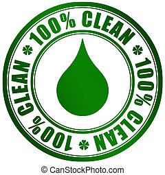 Un símbolo de producto limpio