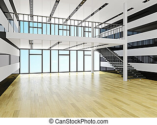 Un salón grande