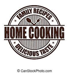 Un sello de cocina casero