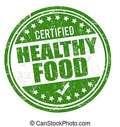 Un sello de comida saludable
