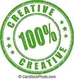 Un sello de goma creativo