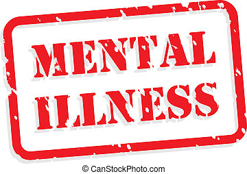 Un sello de goma de la enfermedad mental