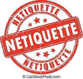 Un sello de goma de Netiquette