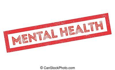 Un sello de goma de salud mental