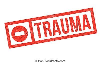 Un sello de goma de trauma