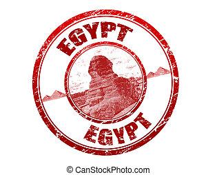 Un sello de goma grunge egipcio
