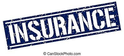 Un sello de grunge cuadrado de seguro