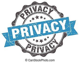 Un sello de privacidad. Firma. Sellen