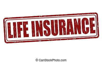 Un sello de seguro de vida