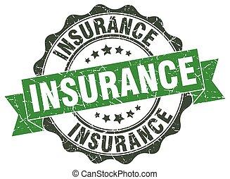 Un sello de seguro. Firma. Sellen