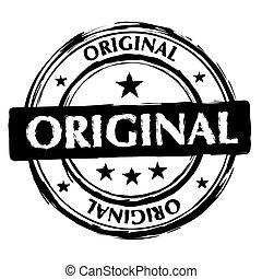 Un sello de tinta original