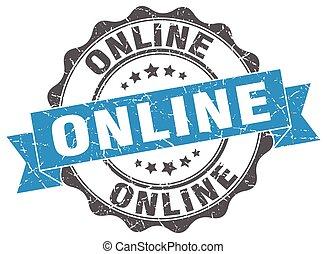 Un sello en línea. Firma. Sellen