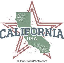 Un sello estatal de California