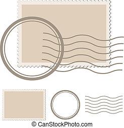 Un sello postal en blanco