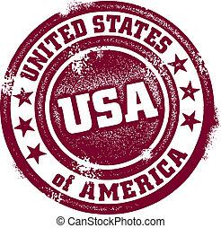 Un sello típico de Estados Unidos