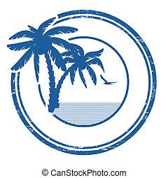 Un sello tropical