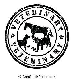 Un sello veterinario