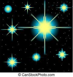Un set de estrellas vectoriales
