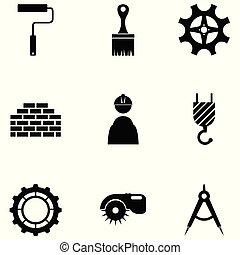 Un set de icono de construcción