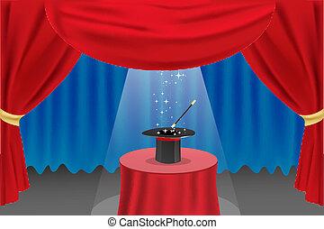 Un show de magia en el escenario