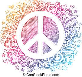 Un signo de paz dibujado