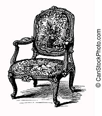 Un sillón antigüo