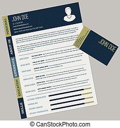 Un simple CV con tarjeta de visita