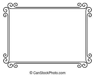 Un simple marco ornamental decorativo
